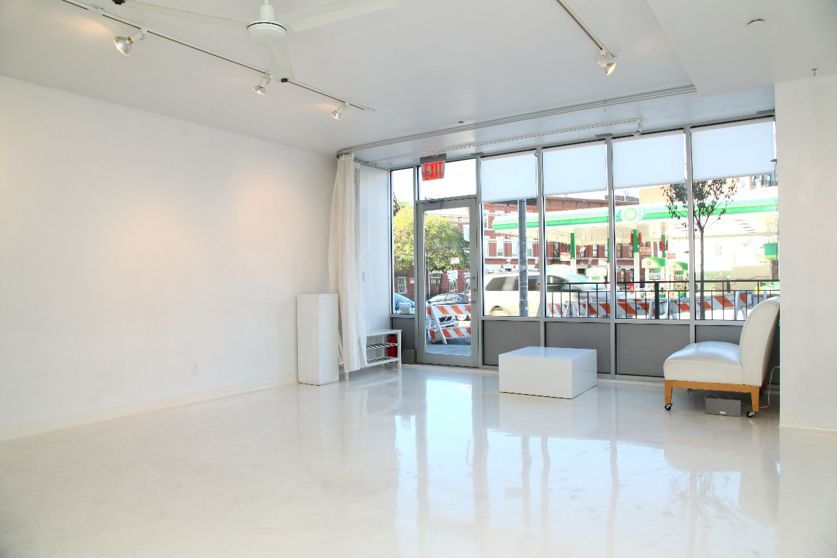 Storefront listing White-Cube Gallery in Williamsburg in Williamsburg, New York, United States.